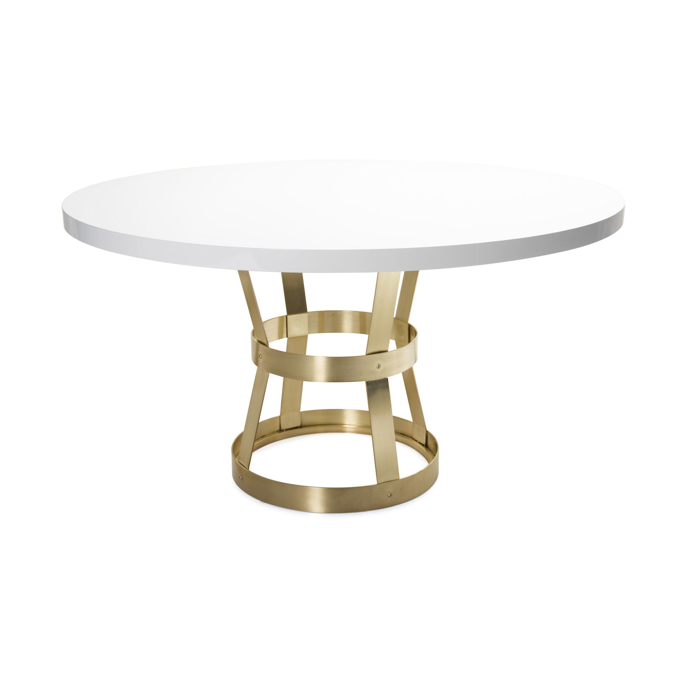 worlds away cannon dining room table antique brass white lacquer top
