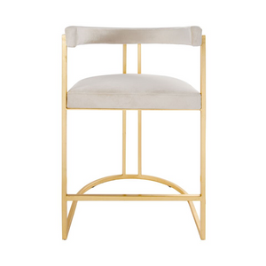 worlds away cromwell counter stool cream and brass
