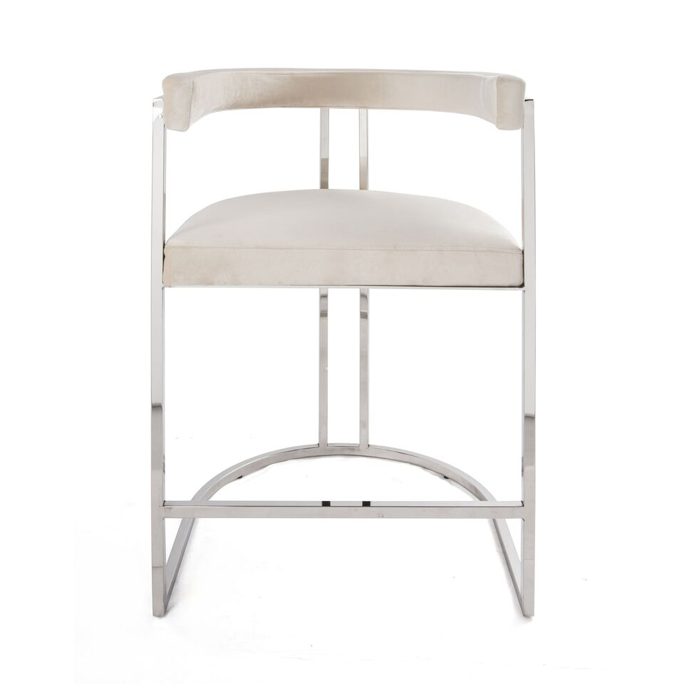 worlds away cromwell counter stool nickel and cream