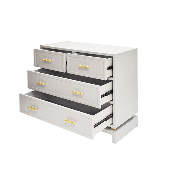 worlds away declan chest gray grey 5 drawers bedroom