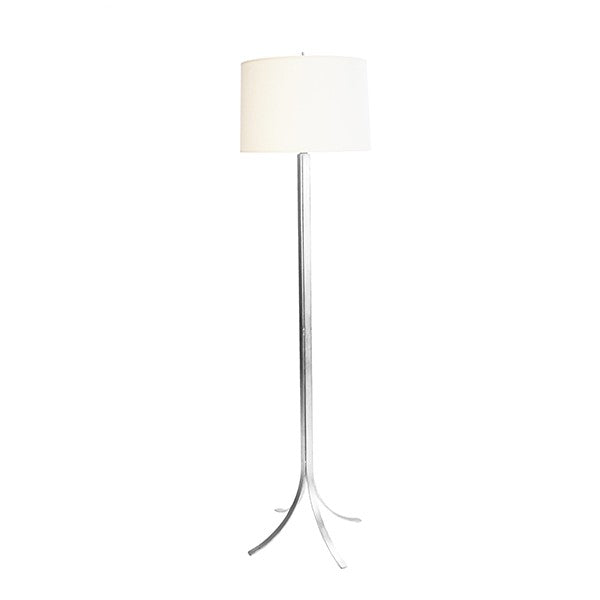 worlds away dempsey floor lamp silver white linen shade