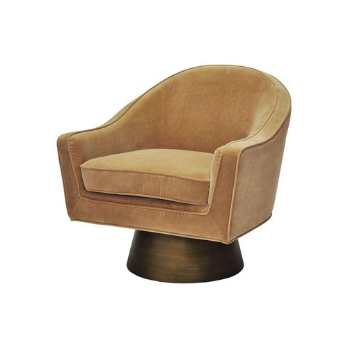 worlds away dominic chair camel velvet