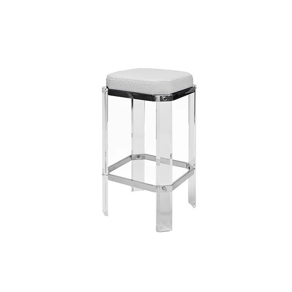 worlds away dorsey counter stool nickel white bar acrylic side