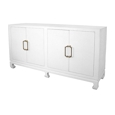 worlds away drayton four door buffet white