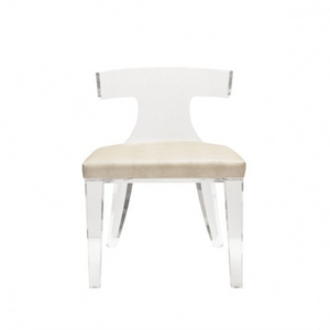 Worlds Away Duke Chair Seating Upholstered Acrylic Shagreen