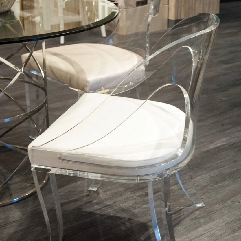 worlds away jolie chair acyrlic lucite white linen upholtered