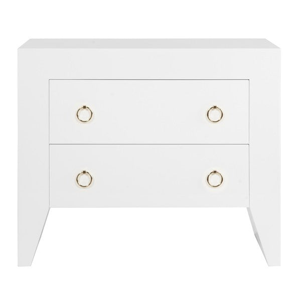 worlds away easton side table white drawers gold