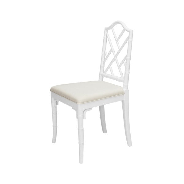 Worlds Away Fairfield Chair White Lacquer
