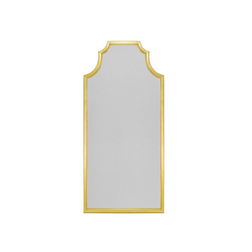 worlds away finley mirror gold leaf