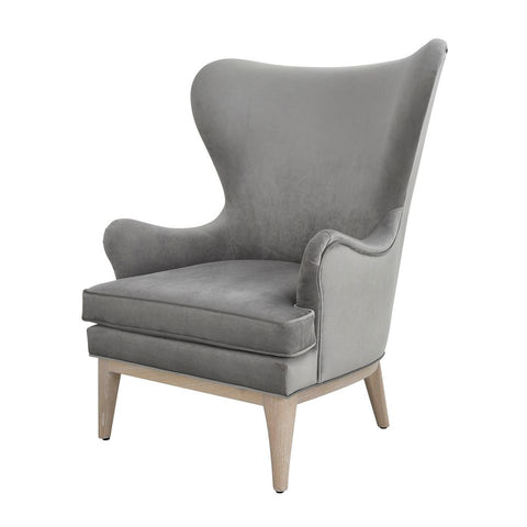 worlds away frisco chair grey velvet