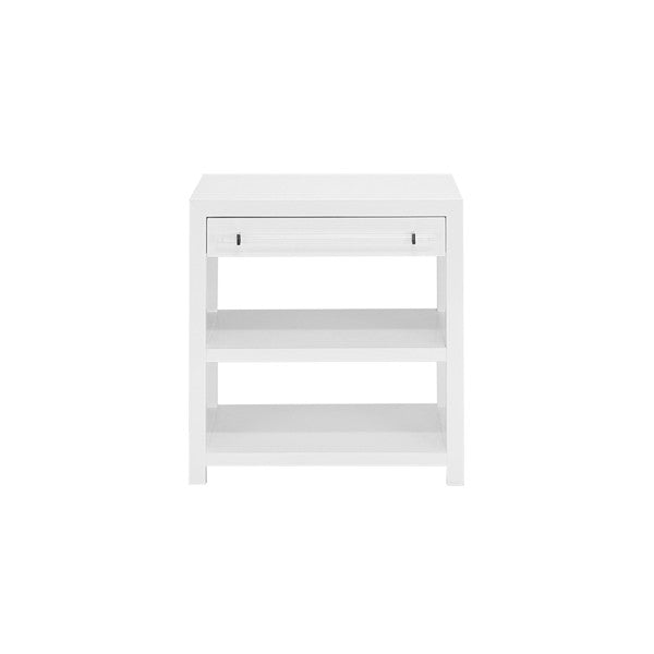 worlds away garbo side table white lacquer