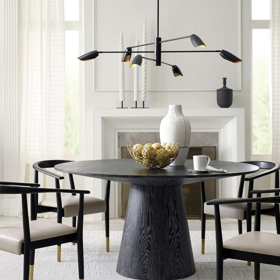 world away Hamilton dining table black cerused oak