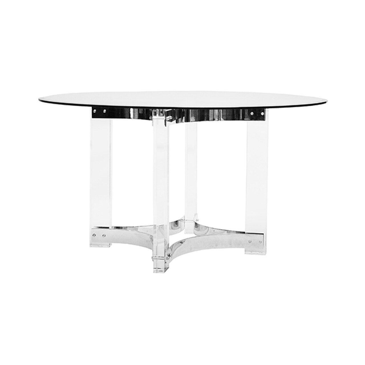 worlds away hendrix dining table nickel acrylic