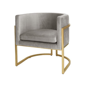 worlds away jenna chair grey velvet gold leaf