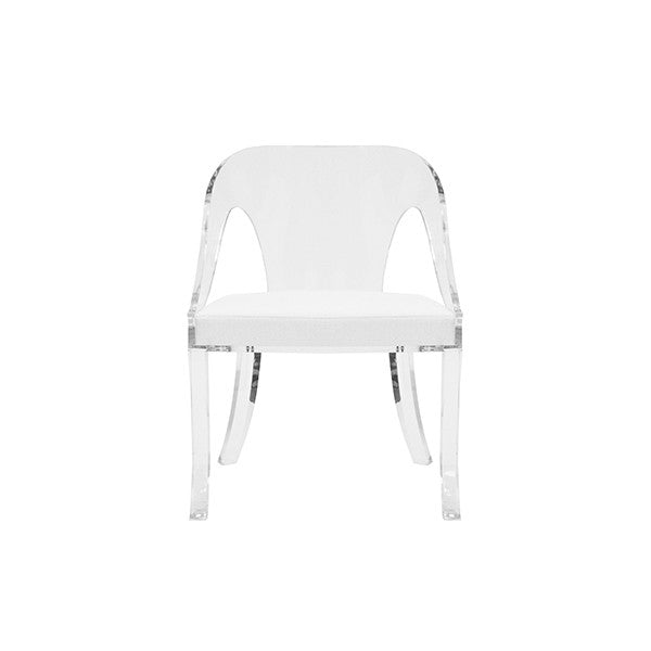worlds away jolie chair white acrylic clear side seating