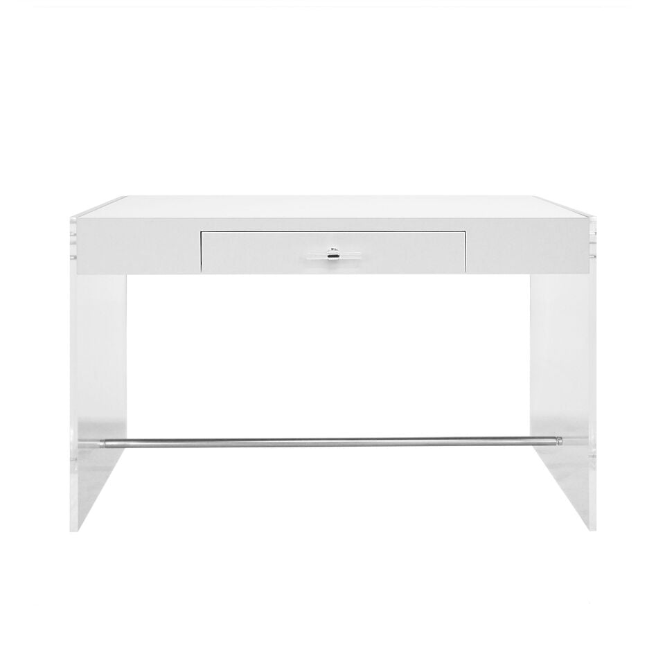 worlds away lennon desk white lacquer