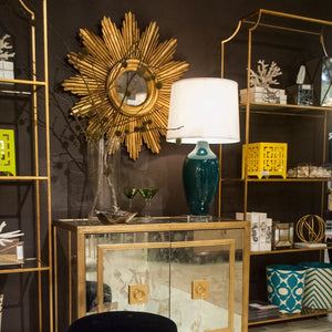 worlds away chloe etagere shelving gold showroom