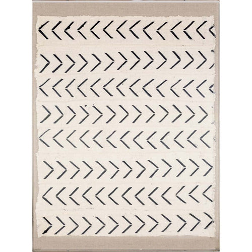 natural curiosities mali textile 3 black white wall hanging art