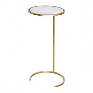 Worlds Away Monaco Cigar Table Gold Mirrored Top Gold Leaf