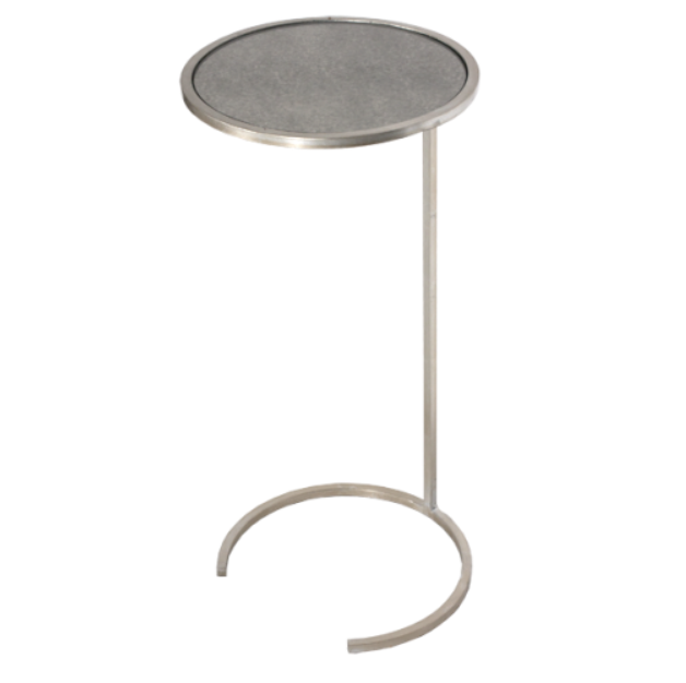 worlds away monaco cigar table silver round metal