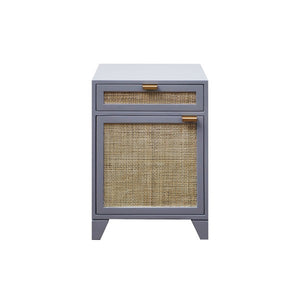 Worlds Away Nell Side Table Brass Pine Grey Lacquer