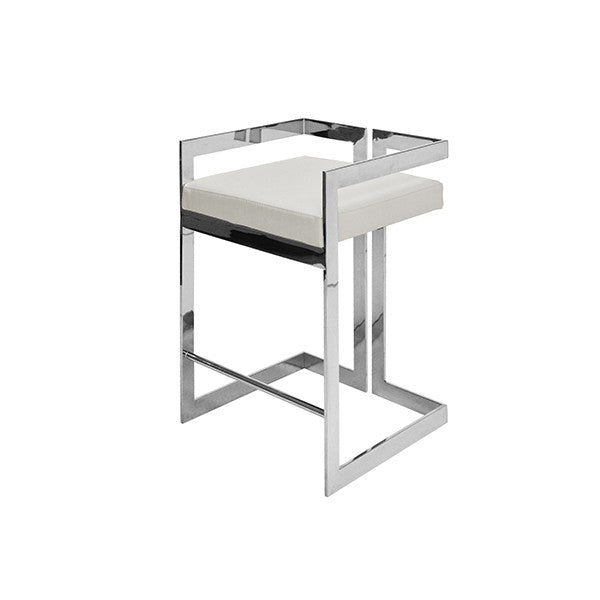 worlds away emmett counter stool nickel white angle bar