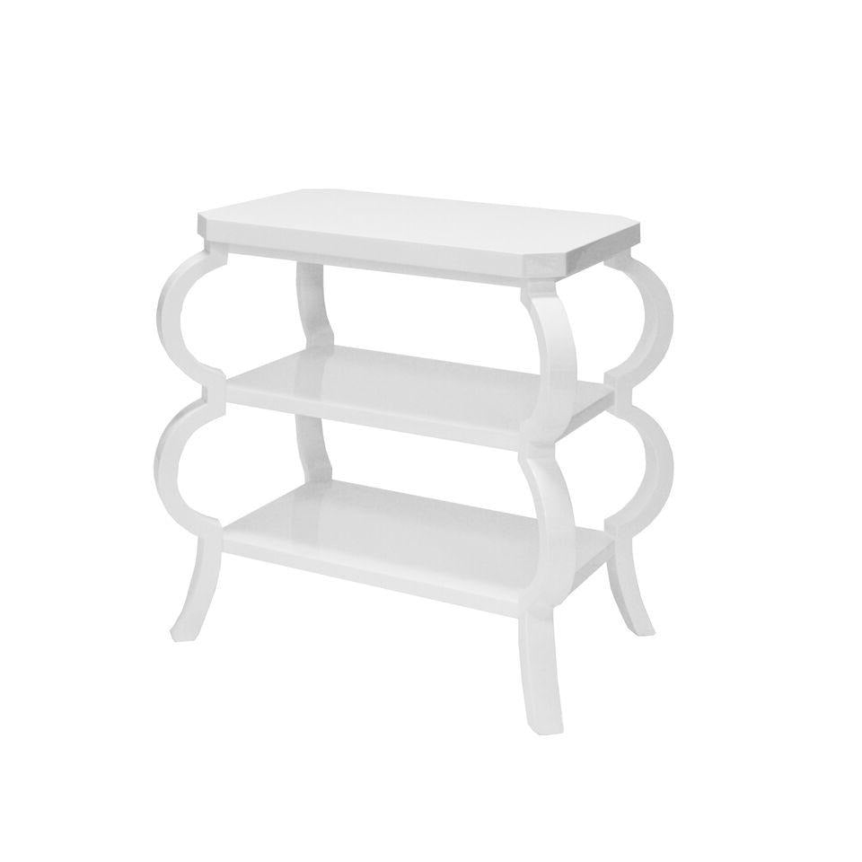 worlds away olive side table white