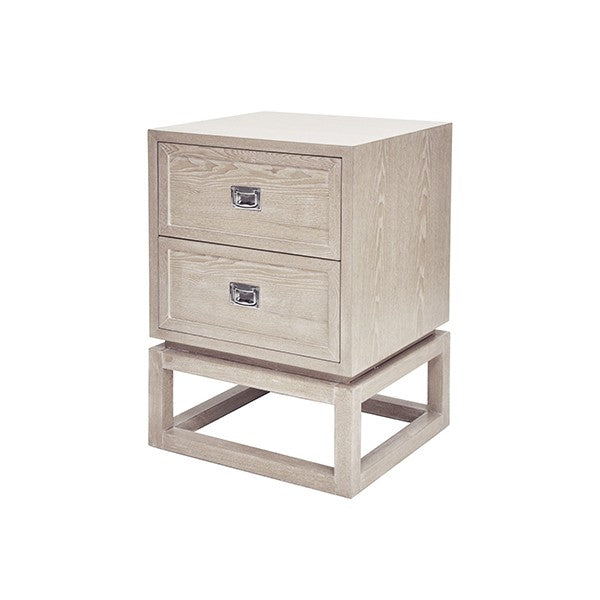 worlds away oliver side table view cerused oak storage nickel h