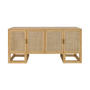 Worlds Away Patrick Cabinet Pine Casegood Doors Gold Brass