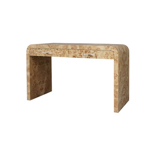 worlds away petra desk burl wood angle