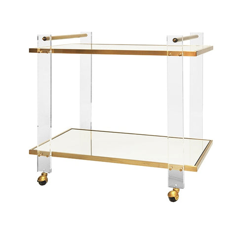 worlds away pierce bar cart antique brass angle