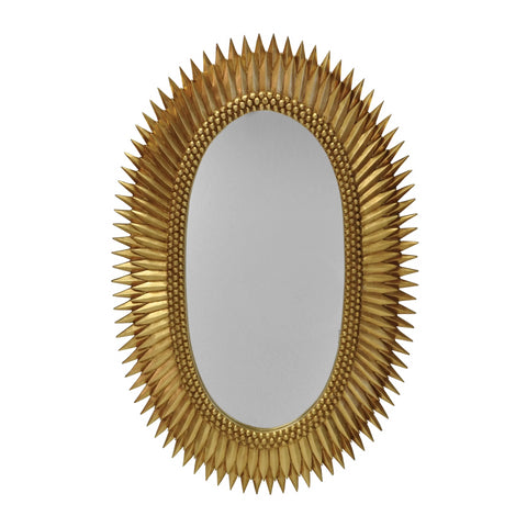 worlds away rita mirror gold leaf