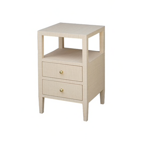 worlds away Roscoe two drawer side table natural