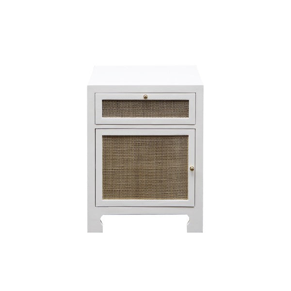 worlds away ruth one door cabinet white lacquer