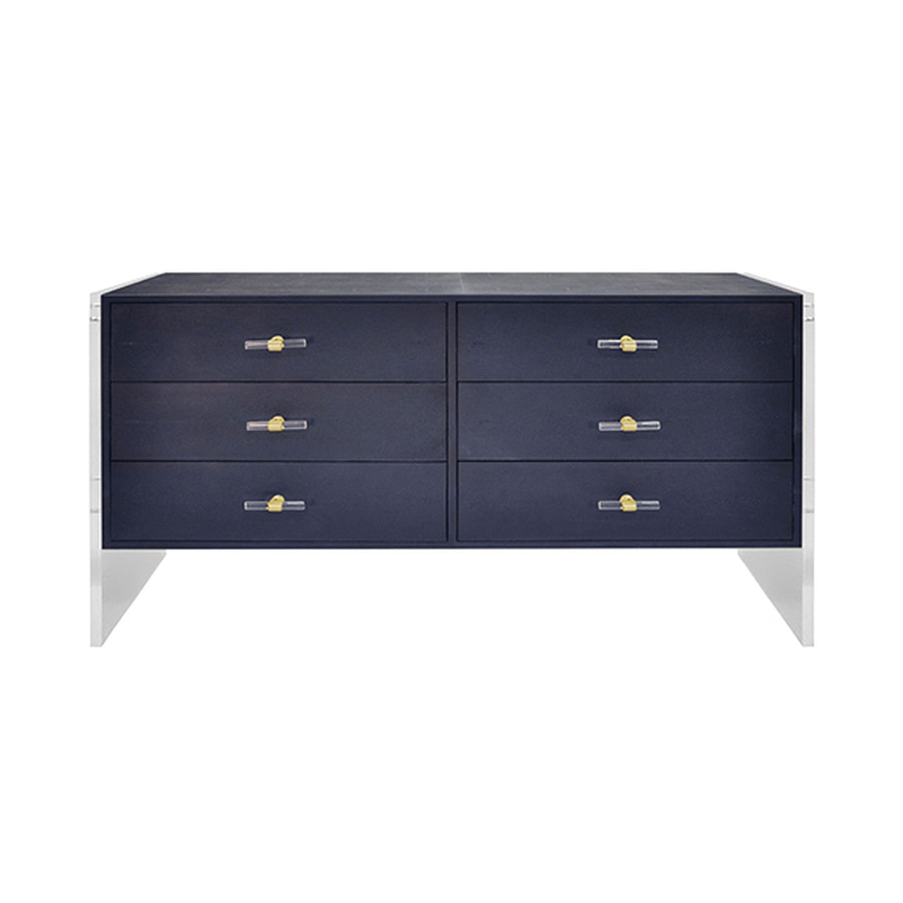 worlds away rutherford navy faux shagreen