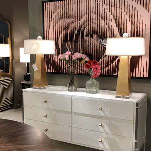 worlds away Jill table lamp gold leaf tall buffet lighting showroom