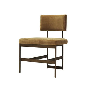 worlds away shaw chair camel velvet and brass