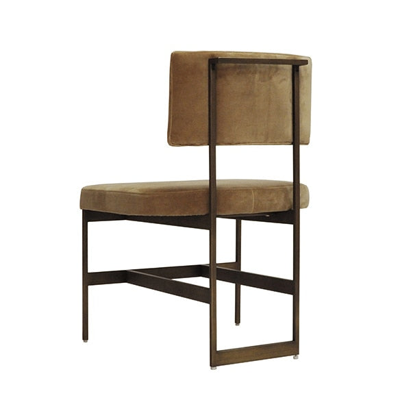 Shaw Chair Brass and Camel Velvet