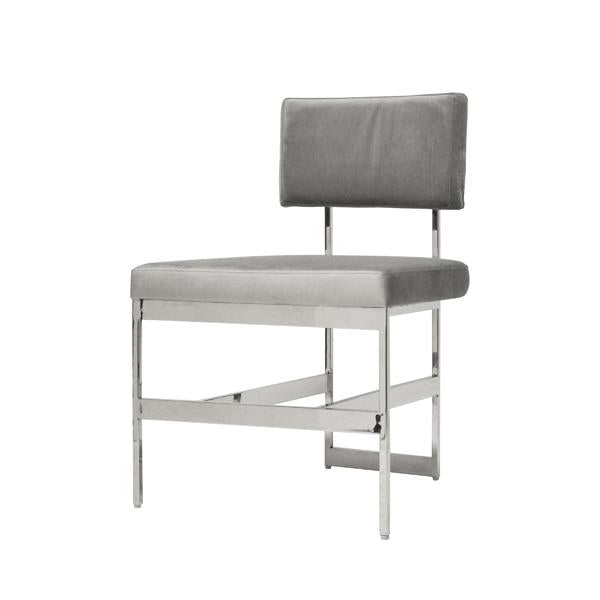 worlds away shaw grey chair velvet and nickel