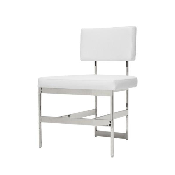worlds away shaw chair nickel and white vinyl