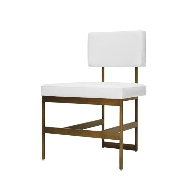 worlds away shaw chair brass and white vinyl