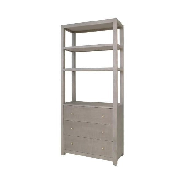 Worlds Away Silas Etagere Grey
