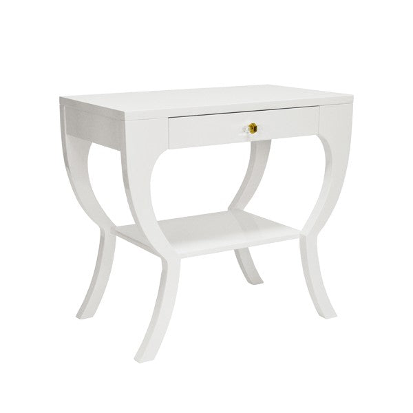 worlds away sonya side table white lacquer