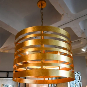 worlds away turner pendant gold leaf metal striped lighting on TURNER G market