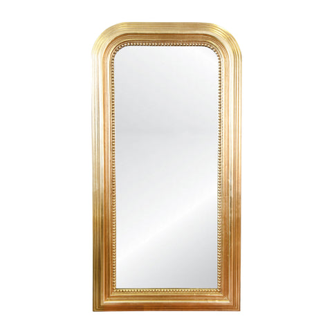 worlds away waverly floor mirror gold leaf