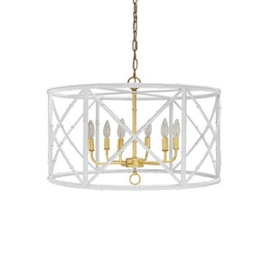 worlds away zia chandelier white gold leaf chain bamboo