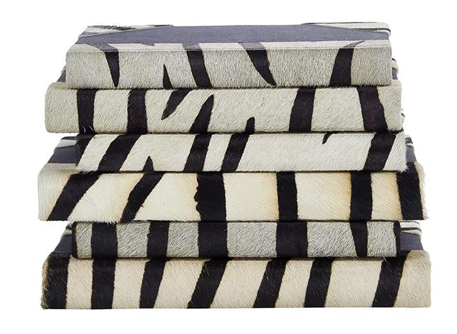 zebra print book set