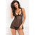 Rene Rofe - With Love Chemise Set S/M (Black)