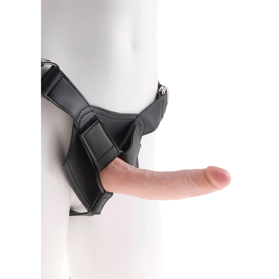 "Pipedream - King Cock Strap-On Harness with 7"" Cock (Flesh)"