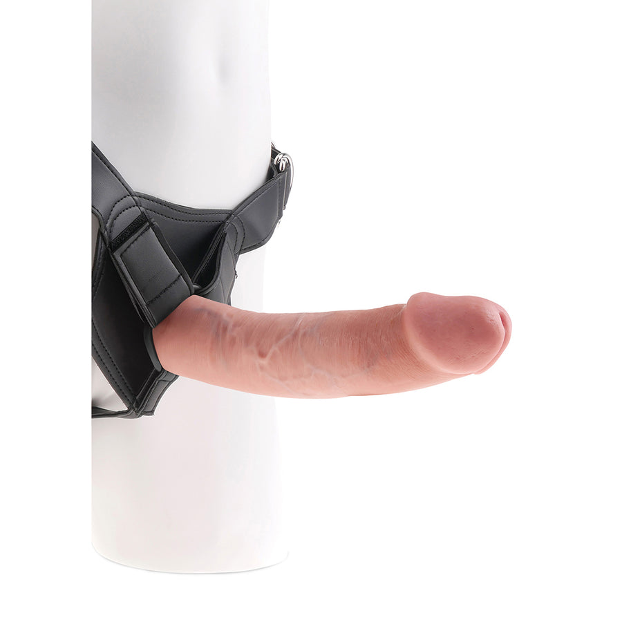 "Pipedream - King Cock Strap-On Harness with 9"" Cock (Flesh)"